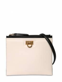 Gancio Squared Leather Shoulder Bag Salvatore Ferragamo 71IG7Y003-NzI0NzM20