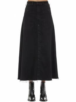 D-rhita Cotton Denim Midi Skirt Diesel 71IG5H019-MDI1