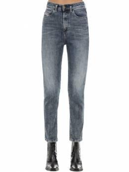 D-eiselle Cotton Denim Straight Jeans Diesel 71IG5H018-MDE1