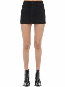De-eisy Cotton Denim Mini Skirt Diesel 71IG5H006-MDI1