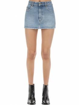 De-eisy Cotton Denim Mini Skirt Diesel 71IG5H005-MDE1