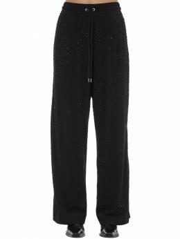 P-strass Embellished Jersey Pants Diesel 71IG5H004-OVhY0