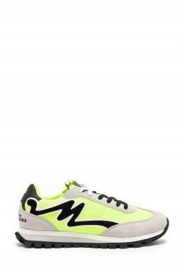 Кроссовки с неоново-желтыми акцентами The Jogger The Marc Jacobs 167168902