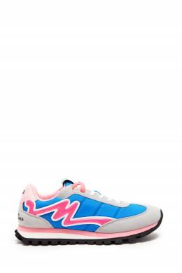 Серо-розово-голубые кроссовки The Jogger The Marc Jacobs 167168905