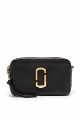 Черная кожаная сумка The Softshot 21 The Marc Jacobs 167168897