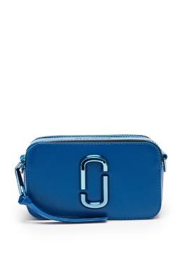 Синяя кожаная сумка The Snapshot DTM The Marc Jacobs 167168799