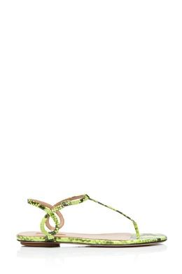 Неоново-зеленые сандалии Almost Bare Aquazzura 975169228