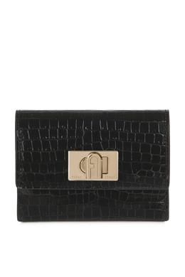 Черный лакированный кошелек 1927 Furla 1962169723