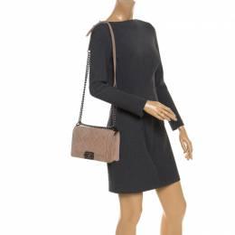 Chanel Beige Quilted Caviar Nubuck Medium Boy Flap Bag 249654