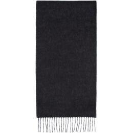 Loewe Black and Off-White Anagram Scarf 929.29.200