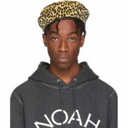 Noah Nyc Beige and Black Corduroy Beret H13FW19