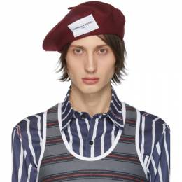 Daniel W. Fletcher Burgundy Woolmark Collection Beret HA2WP19NVY