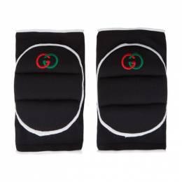 Gucci Black Logo Knee Pads 593478 3GE21
