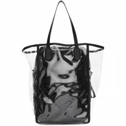 Moncler Genius 2 Moncler 1952 Transparent and Black Quilted Interior Tote 30173 - 00 - 02S3W