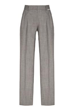 Серые зауженные брюки Alexander Wang 367166757