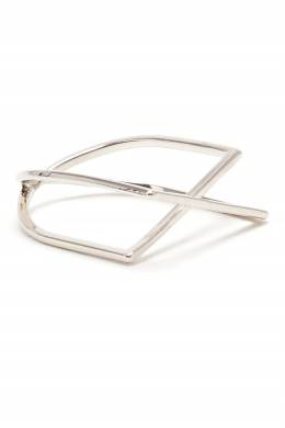 Серебристое кольцо перекрестной формы Lisa Smith 1168170108
