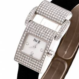 Piaget Mother of Pearl 18K White Gold Diamond Miss Protocole 5225 Women's Wristwatch 17MM 252351