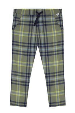 Клетчатые брюки с эластичным поясом Il Gufo 1205170221
