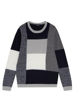 Шерстяной свитер в серых тонах Il Gufo 1205170368