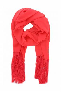 Красный шарф с бахромой Luisa Spagnoli 3090170797