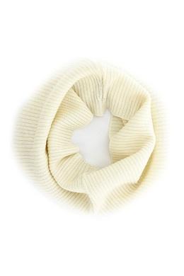 Шарф хомут молочного цвета Luisa Spagnoli 3090170674