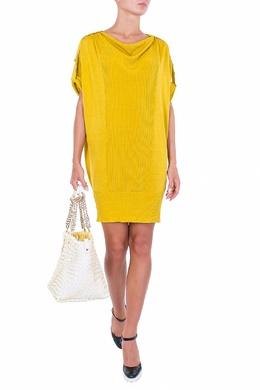 Платье мешок желтого цвета Luisa Spagnoli 3090170701