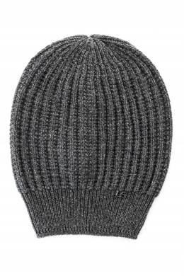 Темно-серая шапка с логотипом Luisa Spagnoli 3090170722