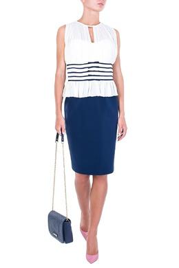 Платье в комбинированном дизайне с баской Luisa Spagnoli 3090170706
