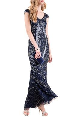Двухслойное платье с вырезом фигурное «каре» Luisa Spagnoli 3090170769
