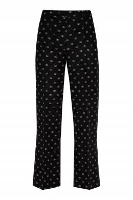 Черные брюки с логотипами бренда Valentino 210166581
