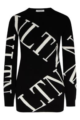 Черный шерстяной джемпер с логотипом Valentino 210166584