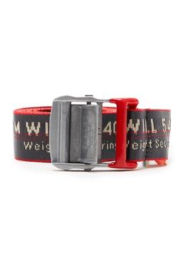 Черный ремень с красной окантовкой Off-White 2202166714