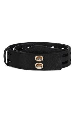 Черный кожаный ремень с двойной застежкой Net Furla 1962169911