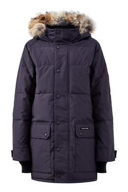 Темно-синяя парка с воротником-стойкой и накладным карманами Canada Goose 2521170316