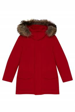 Красная куртка с капюшоном Il Gufo 1205170235