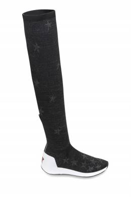 Черные трикотажные ботфорты Ash 6170042