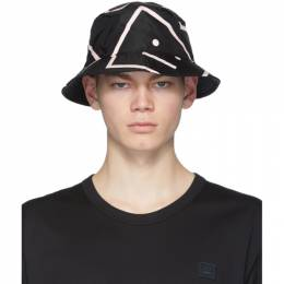 Acne Studios Black Buk Face Bucket Hat C40071-