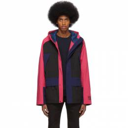 Ps by Paul Smith Black and Pink Sport Parka M2R-852TM-B20587