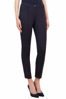 Облегающие темно-синие брюки Luisa Spagnoli 3090170848