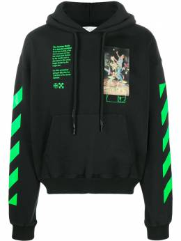 Off-White PASCAL PAINTING OVER HOODIE BLACK MULTIC OMBB037R20E300141088