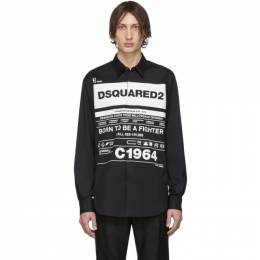 Dsquared2 Black Stretch Poplin Shirt S74DM0391 S44131