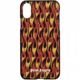 Palm Angels Multicolor and Black Flame iPhone X Case PMPA006R207350131088