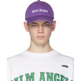 Palm Angels Purple Logo Cap PMLB009R202240013801