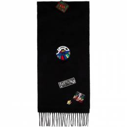 Ps by Paul Smith Black Wool UFO Scarf M2A-127F-AS06
