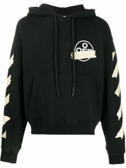 Off-White TAPE ARROWS OVER HOODIE BLACK BEIGE OMBB037R20E300021048