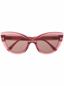 Tom Ford Eyewear солнцезащитные очки в оправе 'кошачий глаз' FT07625542E
