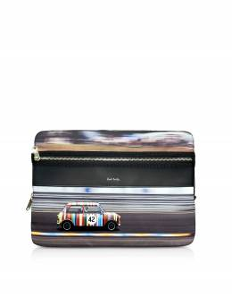 Mini Print Men's Laptop Folder Bag Paul Smith M1A 5550 AMINRC PRINTED