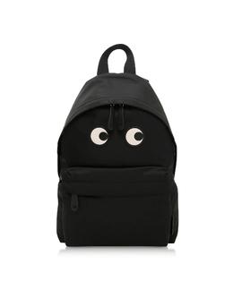 Большой Черный Рюкзак из Нейлона с Глазами Anya Hindmarch AW170629 001 BLACK