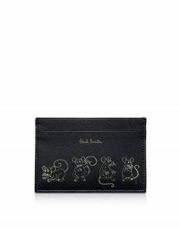 Black Men's Credit Card Holder Paul Smith M1A 4768 ACNYRT 79_BLACK