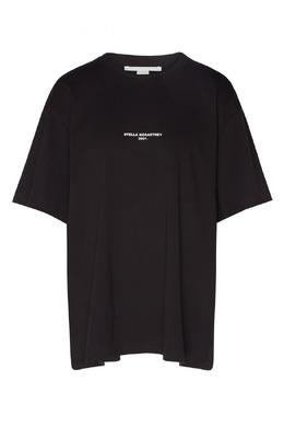 Черная футболка из органического хлопка Stella McCartney 193104529